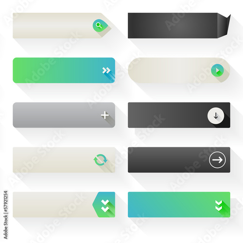 Flat Web Button Elements