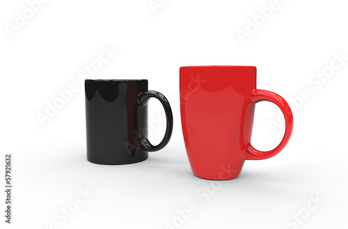 Red And Black Coffee Mugs