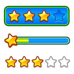 Progress bar set with stars