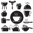 Kitchen icons set,vector format