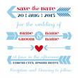 Wedding Invitation Card - Arrow and Heart Theme - in vector