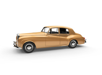 Golden Vintage Car