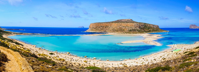 Amazing view over Balos Lagoon, island on Crete, Greece