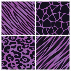 Purple Animal Print Collection