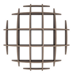Shelves in the shape of a circle