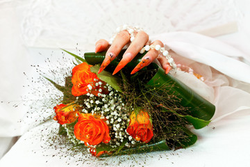 Unusual bridal nails