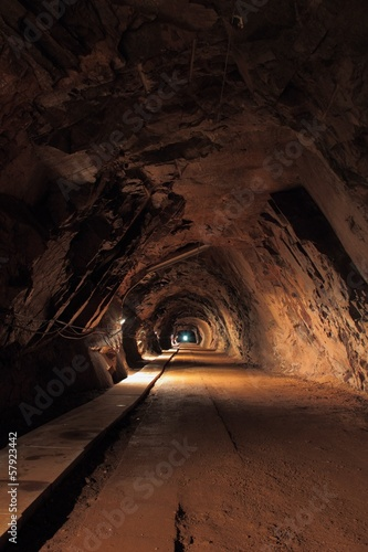 Wall mural Mine tunnel