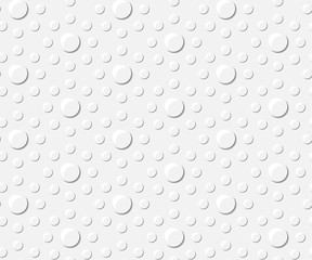 Light grey background with drops