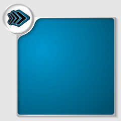 silver box for any text with blue arrow