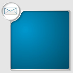 silver box for any text with blue envelope