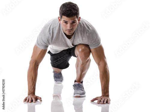 Man start running