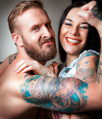 Sexy Couple with tattoos