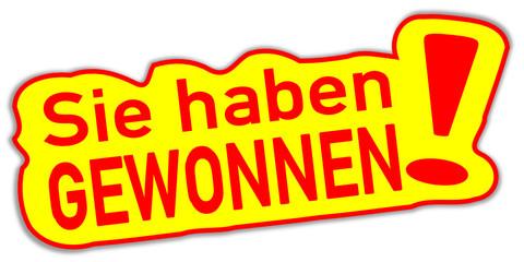 Gewonnen Gewinn Sticker  #131103-svg02
