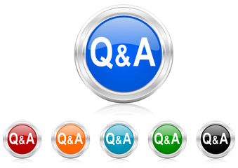 question answer icon vector set