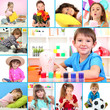 Collage of cute little children