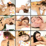 Spa massage collage