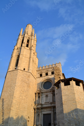 Church of Sant Feliu in Girona, Spain