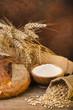 ambientazione di pane con grano