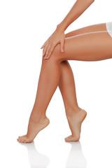 Beautiful female legs perfectly depilated