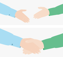 handshake. vector illustration