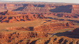 Pan of the red rocks and river of Dead Horse Point