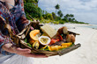 Tropical food on deserted tropical island