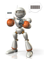 Robot to present the card