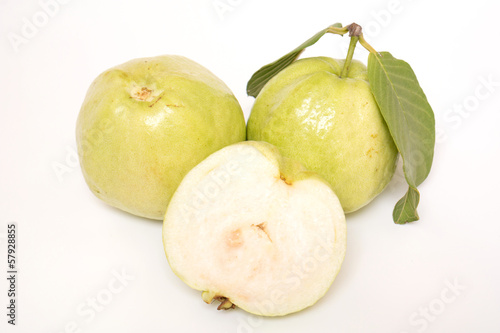 Fresh Guava isolated on white