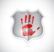 handprint stop spam shield illustration design