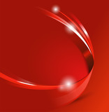 Universal red abstract vector background with 3D effect - 57929048