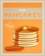 Vector Illustration of a Vintage Pancakes Sign