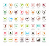 SEO and Development icon set2, circle series