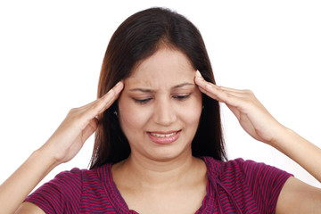 Young Indian female teenager with headache