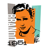 vector illustration graphic design marlon brando