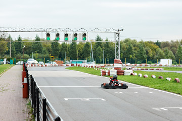 Car on the track karting