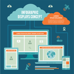 Infographic Displays Concept - Vector Scheme