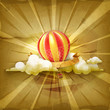 Air balloon, old style background