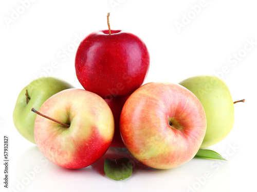 Sweet apples isolated on white