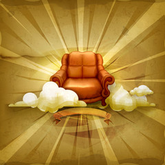 Chair, old style background