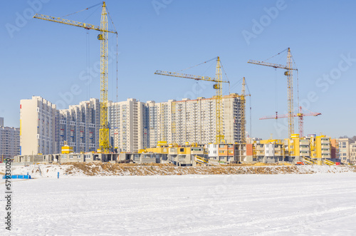 The construction of new residential buildings in Moscow