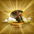 Magic cylinder hat, old style background