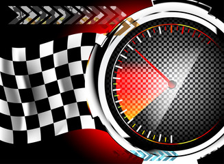 Colorful speedometer racing abstract background