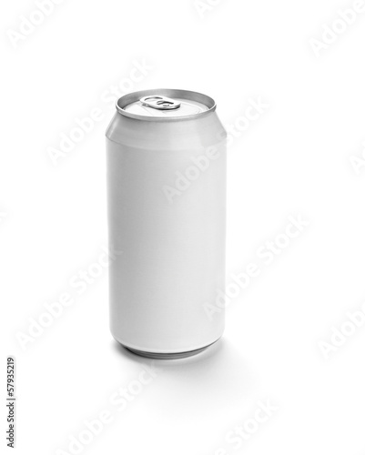 white aluminum tin can drink container template blank package
