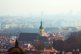 Morning view of Prague