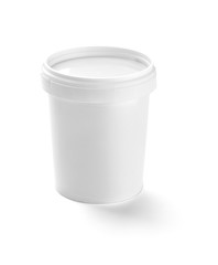 white jar container template blank package