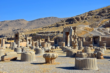 Hall of Hundred Columns in Persepolis,Iran