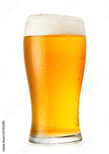 Plexiglas Bier glass of beer