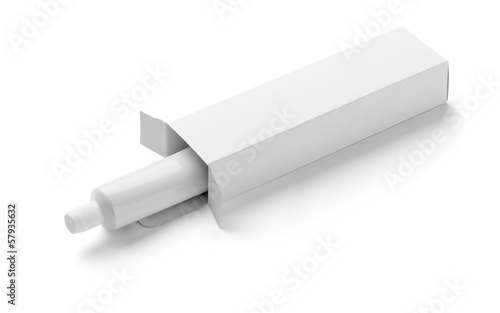 white tube cream toothpaste