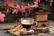 tazza di caffè bollente
