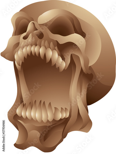 screaming skull isolated